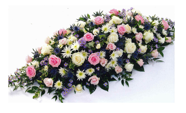 Coffin spray pink lilac